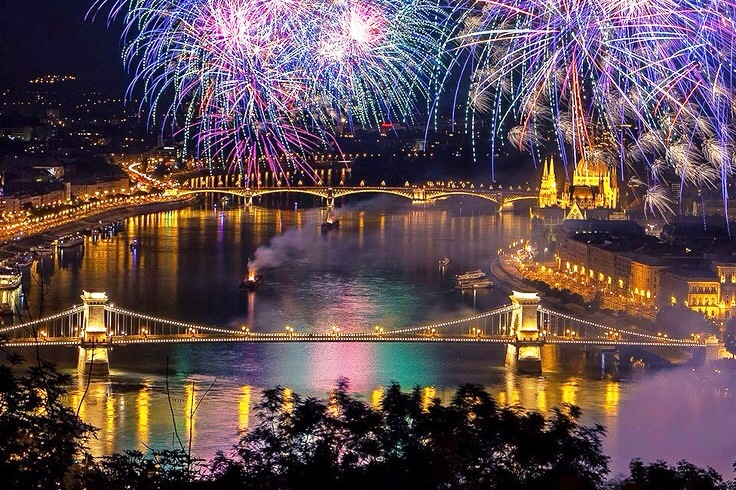New Year's Eve in Budapest, Hungary