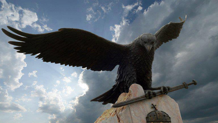 The Turul, the mythical bird of Hungarians